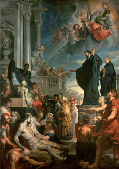 Rubens, Peter Paul: Saint Francis Xavier Blessing the Sick. Fine Art Print/Poster. Sizes: A1/A2/A3/A4 (002124)